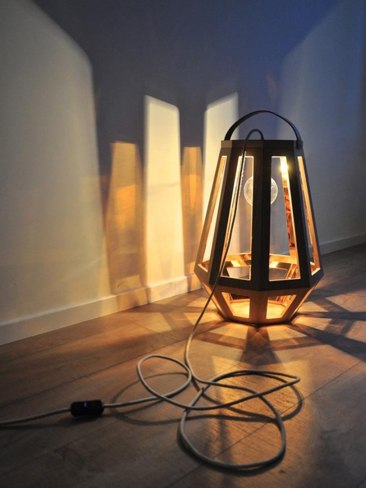 Чудесный деревянный светильник из коллекции ZUID от Françoise Oostwegel