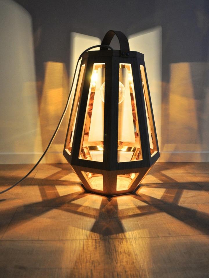 Замечательный деревянный светильник из коллекции ZUID от Françoise Oostwegel