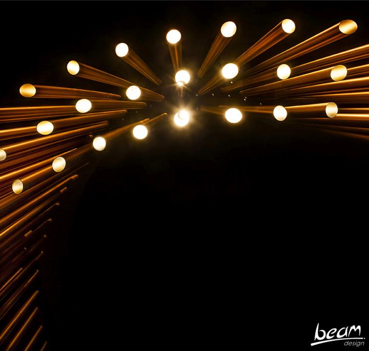 Превосходный световая инсталляция от BeamDesign в Израиле