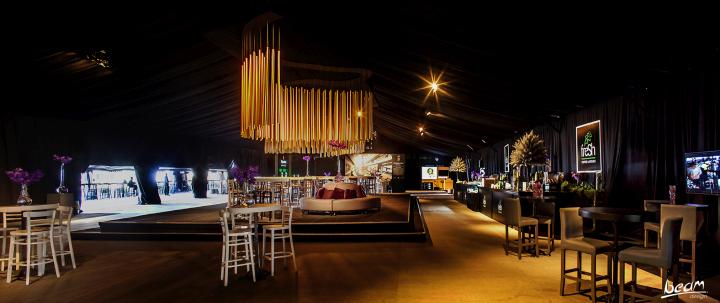 Креативная световая инсталляция от BeamDesign в Израиле