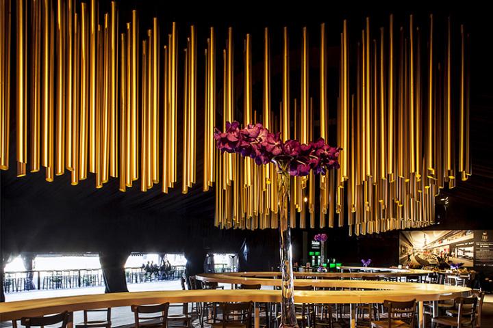 Упоительный световая инсталляция от BeamDesign в Израиле