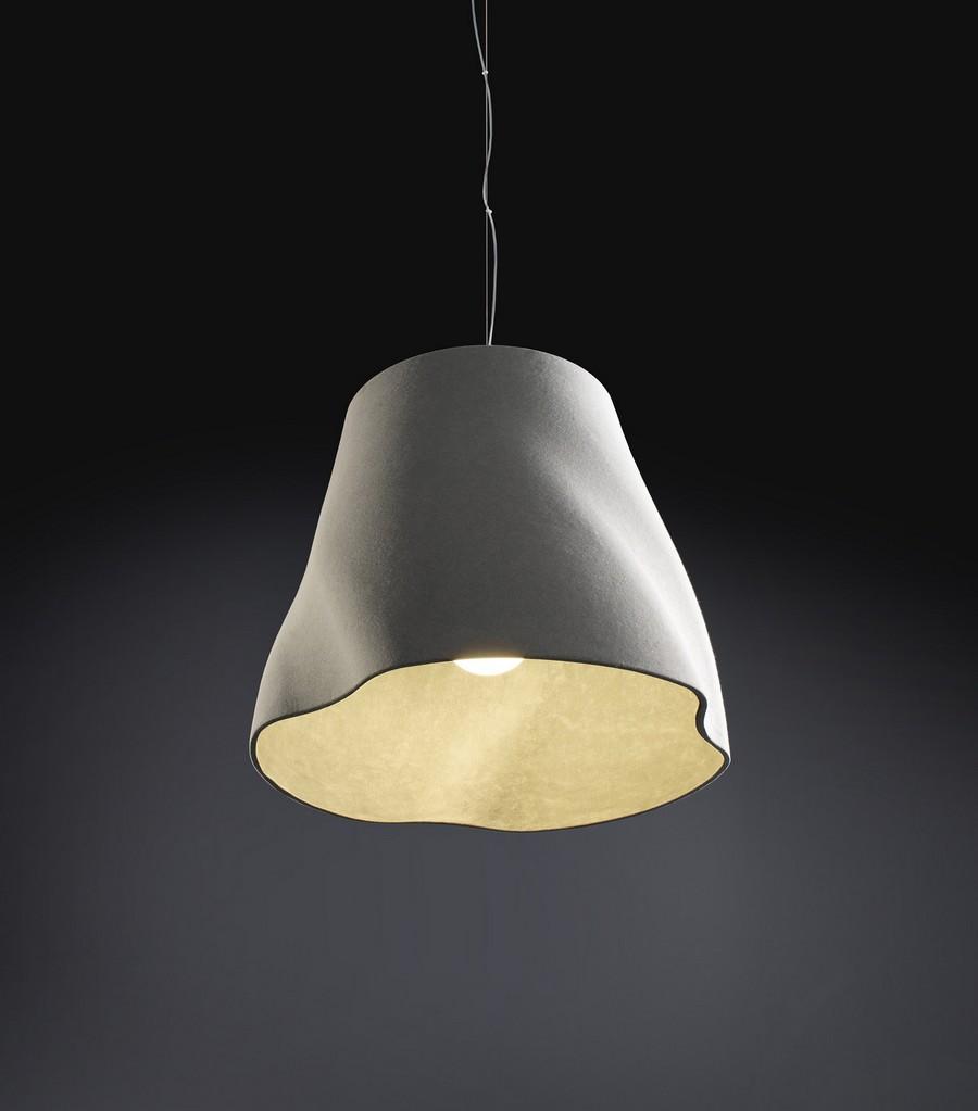 Designer lamps handmade fiber cement