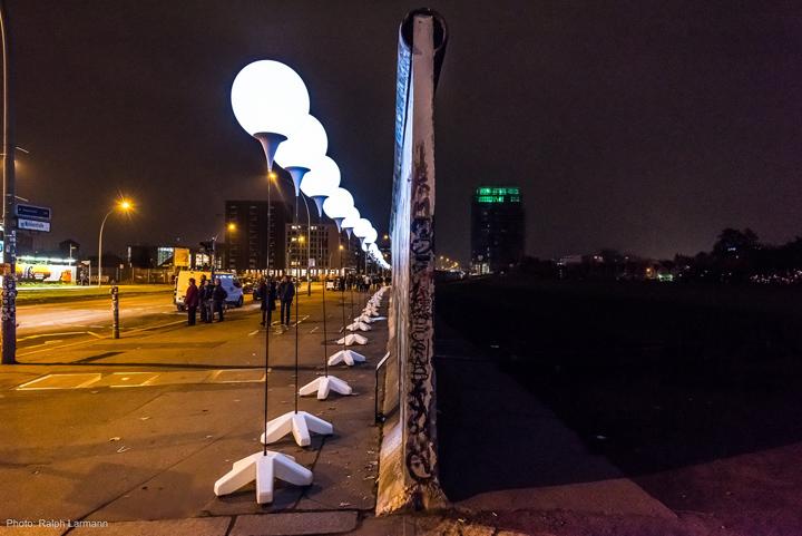 Осветительные установки на окрайне города Берлина