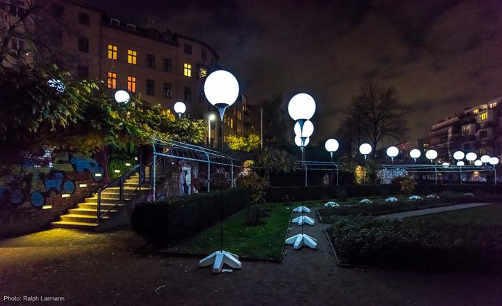 Осветительные установки в парке Берлина