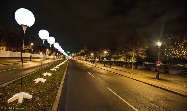 Осветительные установки по проезжей части Берлина