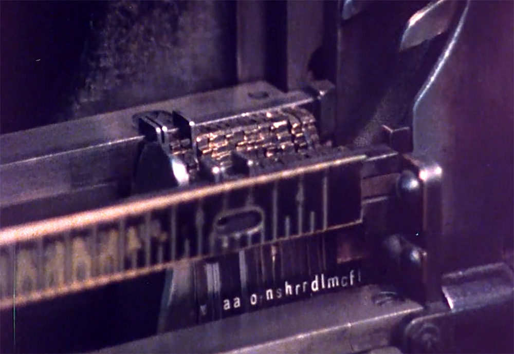 Farewell – ETAOIN SHRDLU: увлекательный короткометражный фильм о линотипной печати