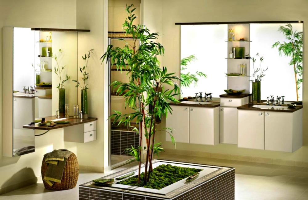 Бамбук в интерьере ванной комнаты от James Wong и David Cubero