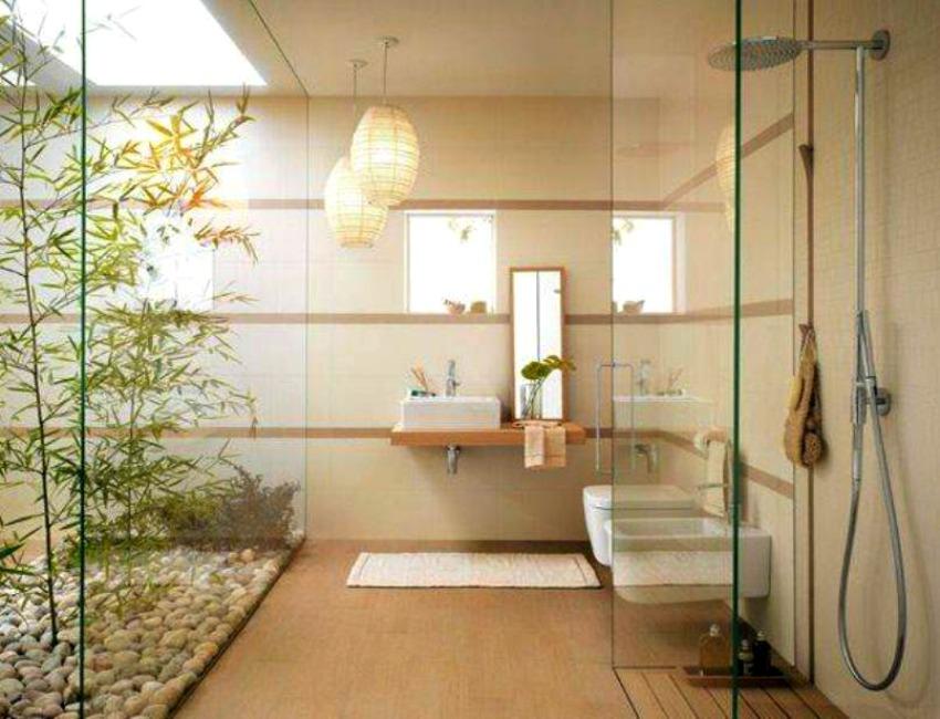 Креативный бамбук в ванной комнате от James Wong и David Cubero