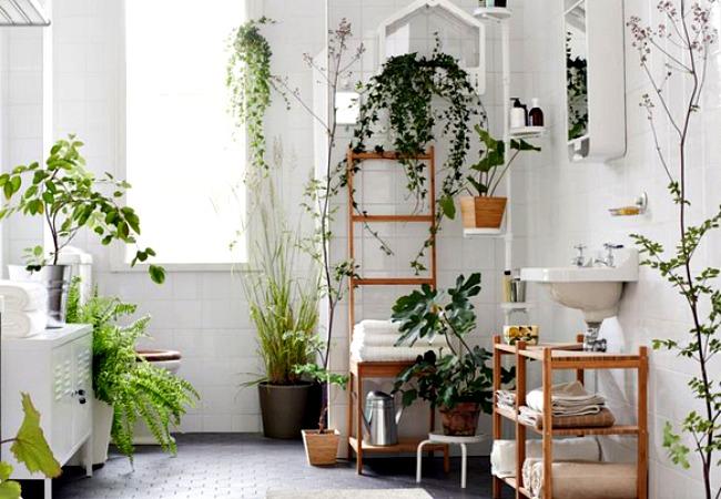 Яркие цветы в интерьере ванной комнаты от James Wong и David Cubero
