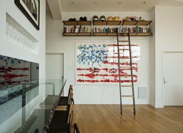 Красивые цвета американского флага в интерьере
