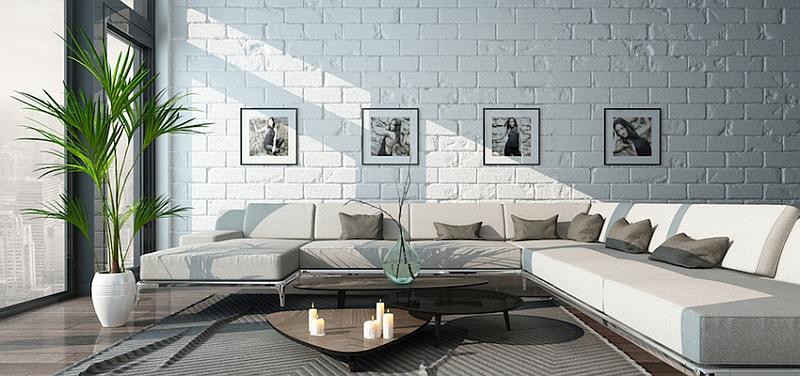 Обстановка гостиной по Феншуй - диван