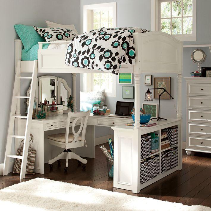Кровать-чердак в дизайне интерьера комнаты