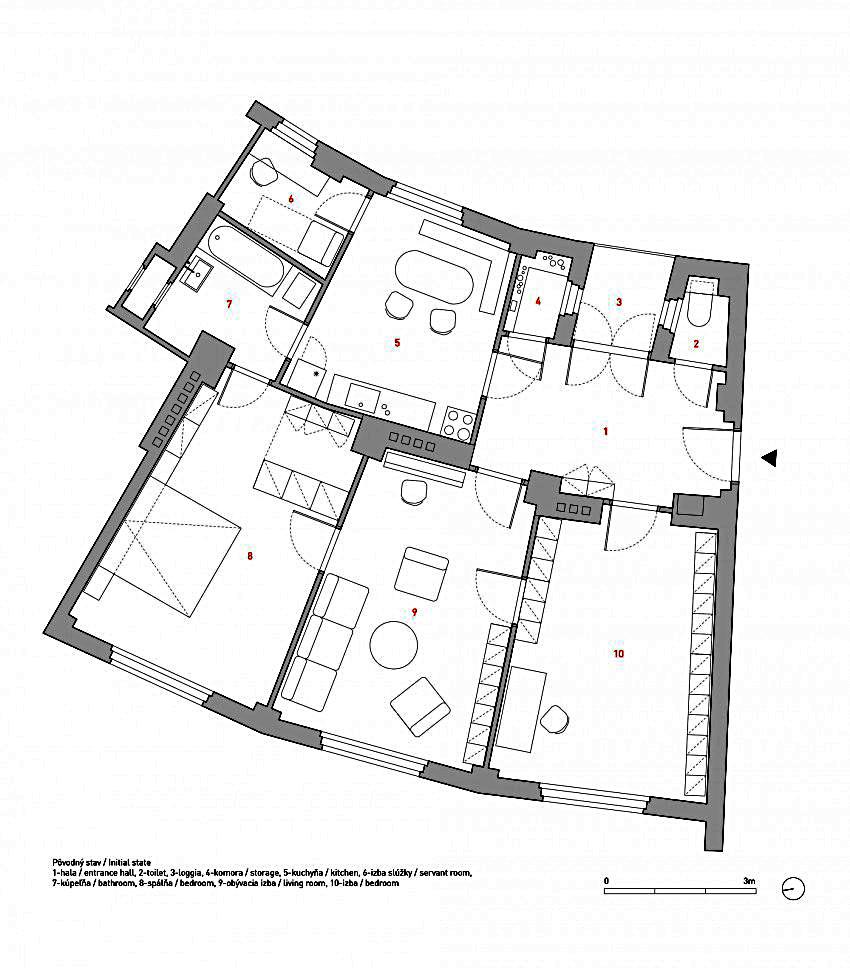 План жилища до реконструкции