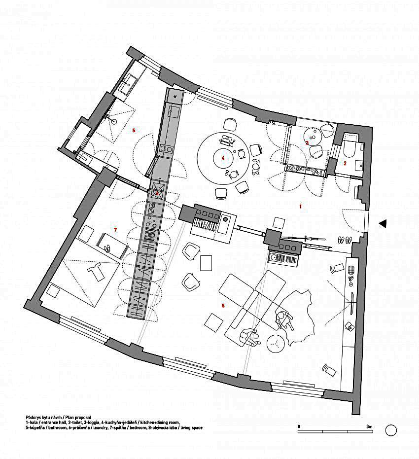 План жилища после реконструкции