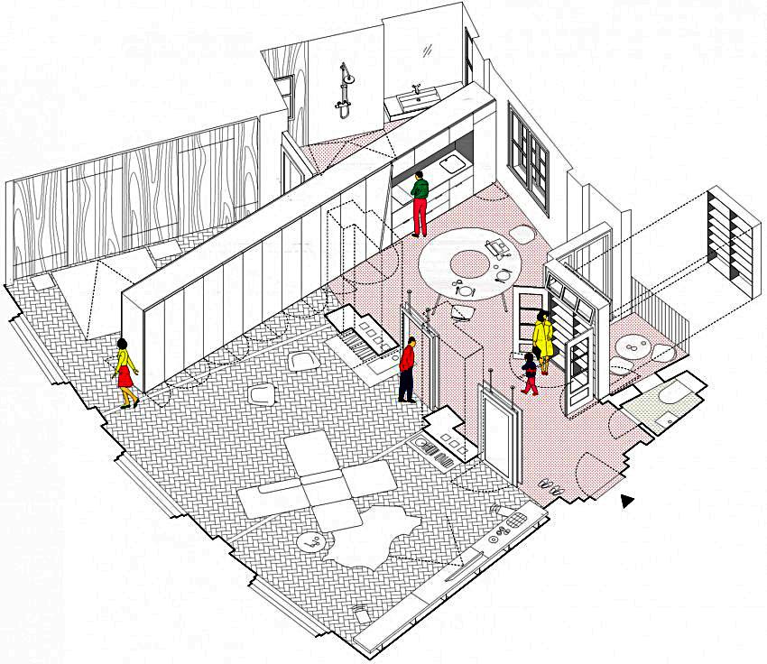 Планировка резиденции в трехмерной проекции