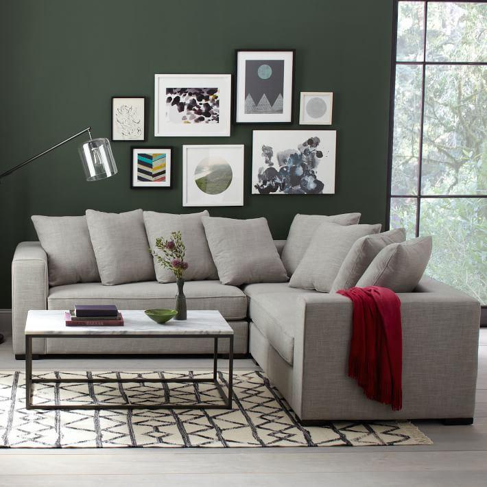 L-образный диван-секционник от West Elm