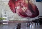 Сердце: фото фрески от хорватского уличного художника Лонаца