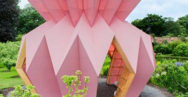 Парковый павильон в виде оригами от студии Morison