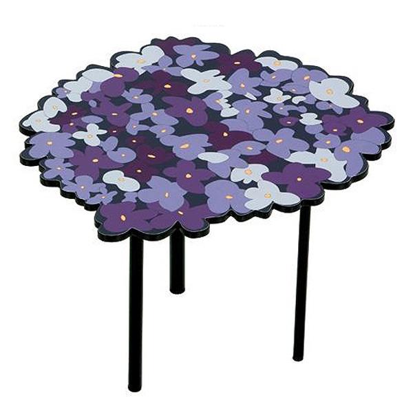 Столик Lomi & Lou Blossoming в фиолетовых тонах