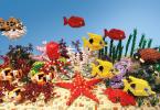 Эти сцены выполнены только из пластиковых кирпичиков LEGO