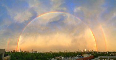 Майк Айзенберг: в фокусе камеры двойная радуга над Чикаго