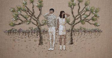 Вышитые миниатюры от Мишель Киндом: сюрреалистические повествования