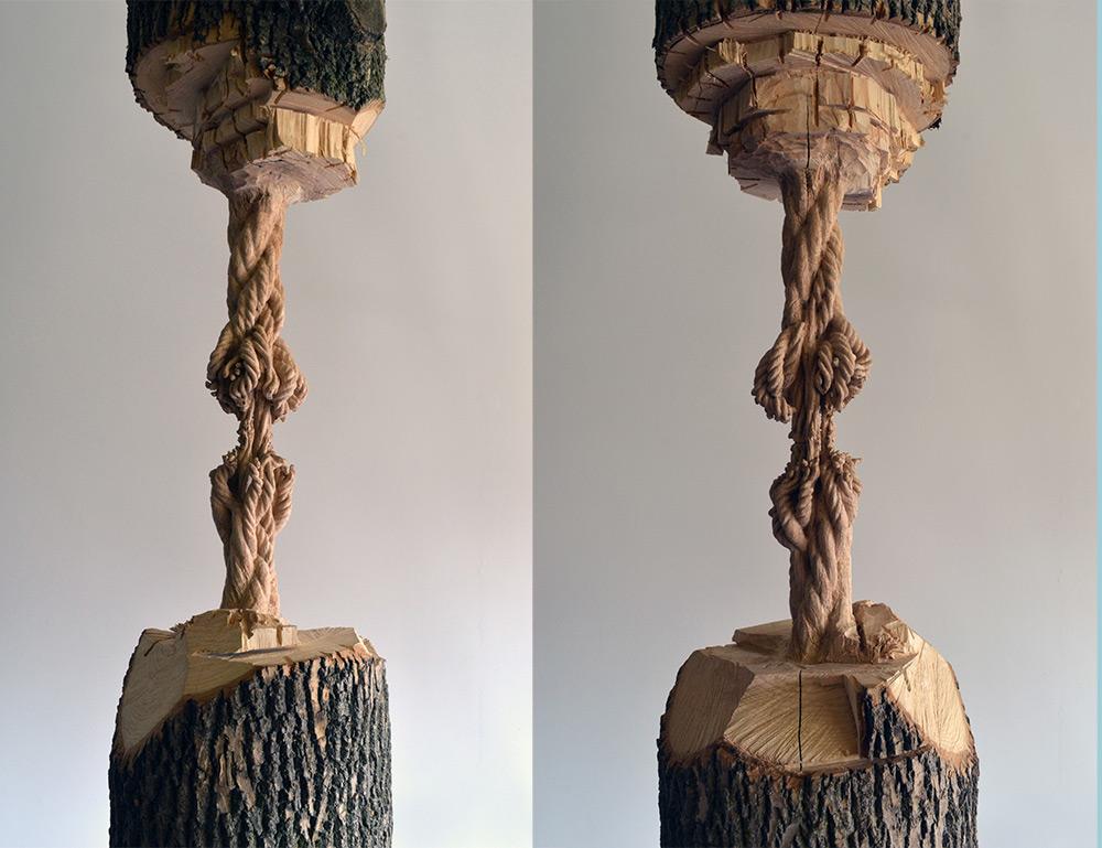 Концептуальная деревянная скульптура от Маскюля Лассерре