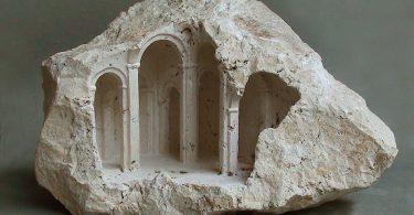 Мэтью Симмондс: миниатюрные скульптуры архитектурных форм из камня и мрамора