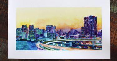 Версия для печати: городские пейзажи в акварелях Майи Вроньской