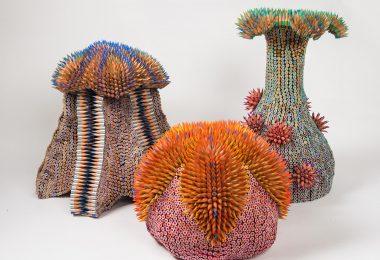 Дженнифер Маэстре: колючие карандашные скульптуры