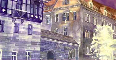 Майя Вроньска: знаковая архитектура городов мира в очаровательных акварелях