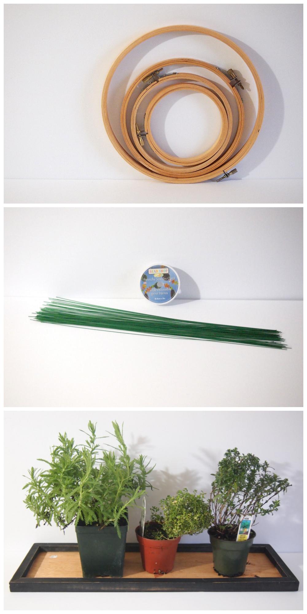 Креативный венок из трав