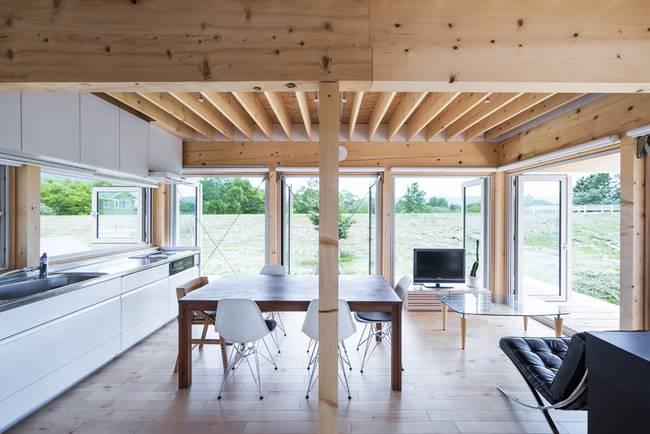 Маленький дом в японском стиле: деревянные стены