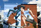 Уличная фреска «Встреча двух культур» (Монреаль, 2015) от французского художника Жюльена Мелёнда