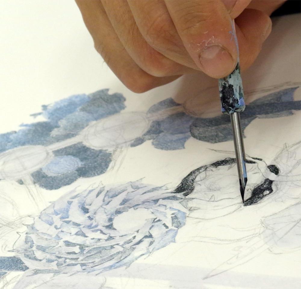 Манабу Икэда: монументальное полотно с потрясающей детализацией сцен хаоса после цунами