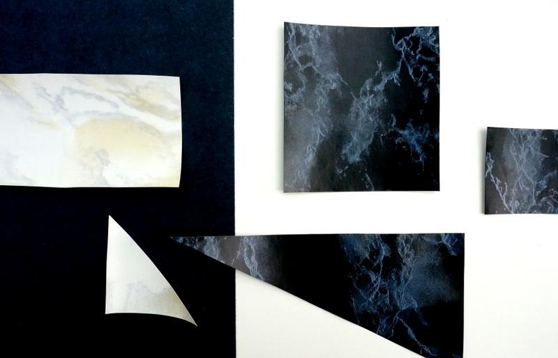 Контактная бумага с мраморным орнаментом