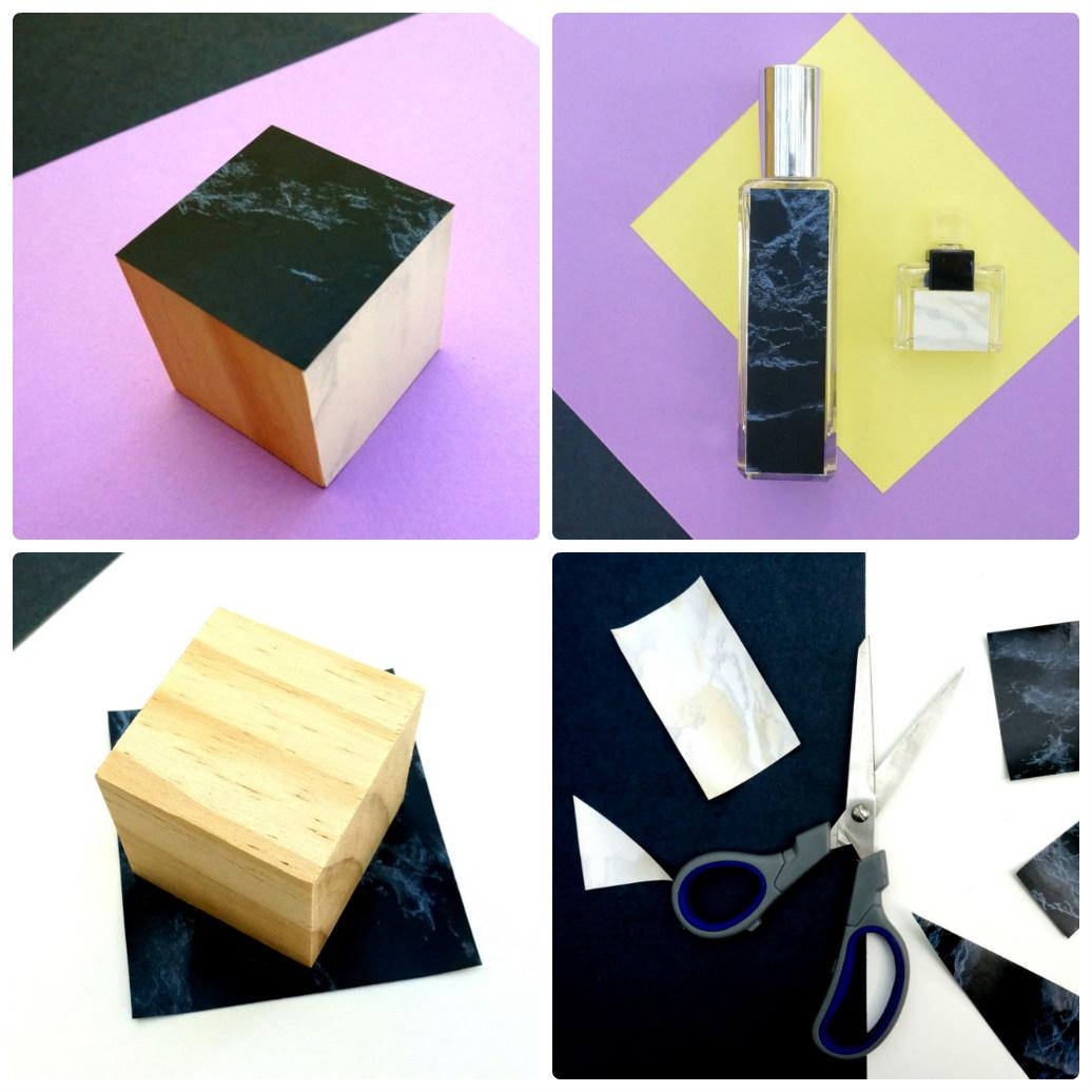 Примеры декора из мраморной бумаги