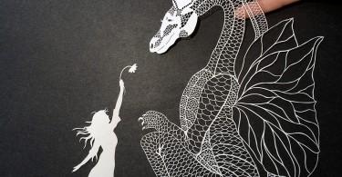 Мод Уайт: затейливые бумажные композиции тонкой ручной работы
