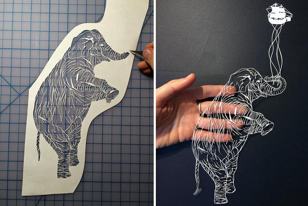 Как сделать рисунки с бумаги