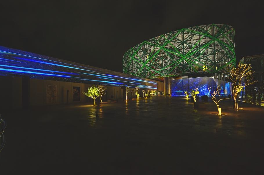 Креативное освещение Gran Museo del Mundo Maya в Мексике