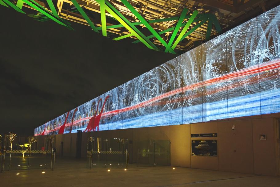 Первоклассное освещение Gran Museo del Mundo Maya в Мексике