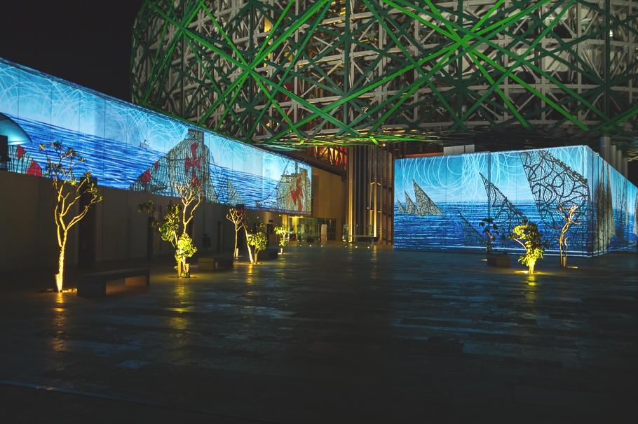 Умопомрачительное освещение Gran Museo del Mundo Maya в Мексике