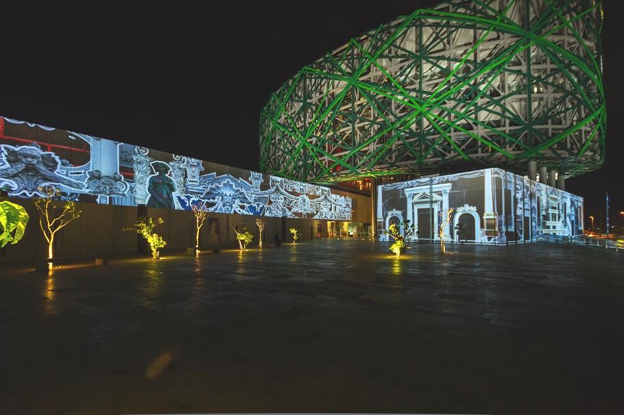 Уникальное освещение Gran Museo del Mundo Maya в Мексике