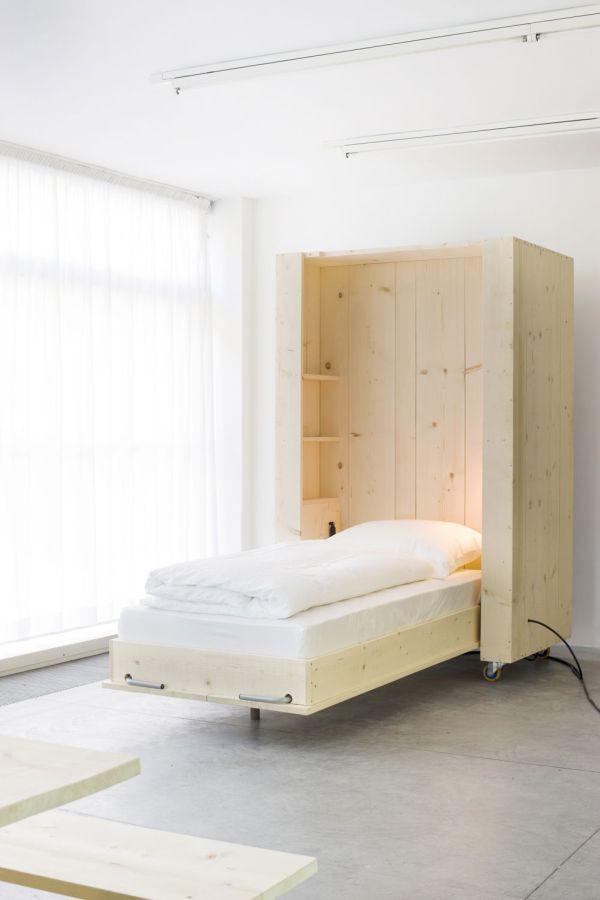Раздвижная кровать в интерьере от Harry Thaler для Museum of Modern and Contemporary Art