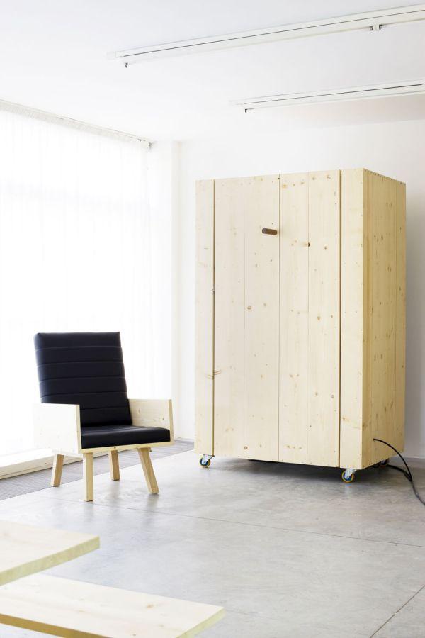 Уникальное деревянное кресло от Harry Thaler для Museum of Modern and Contemporary Art