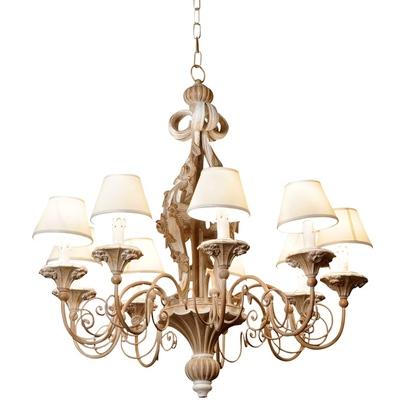 Изысканная лампа с деревянным каркасом