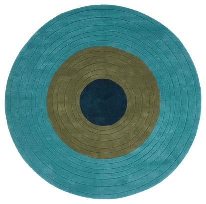 Трехцветный шерстяной палас Concentric