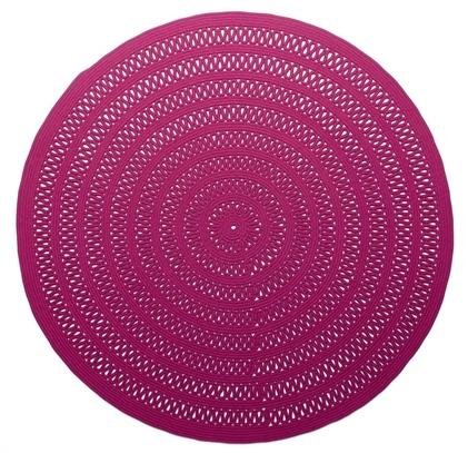 Круглый розовый палас Shang