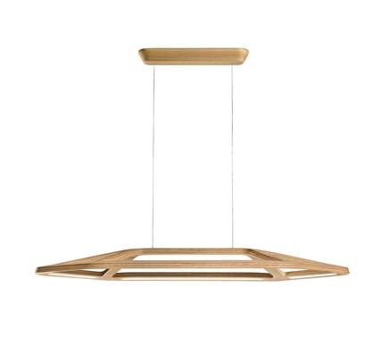Футуристская лампа Aki с древесной отделкой