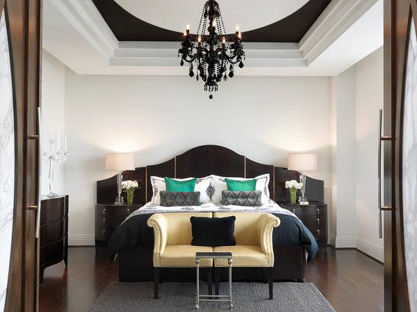 Чудесная мебель для спальни в черном цвете